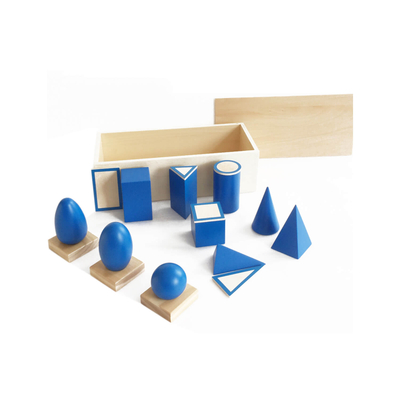 The Geometric Solids And Plane Figures With Box