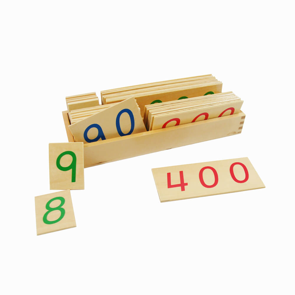 Wooden Number Cards: Lager 1-9000