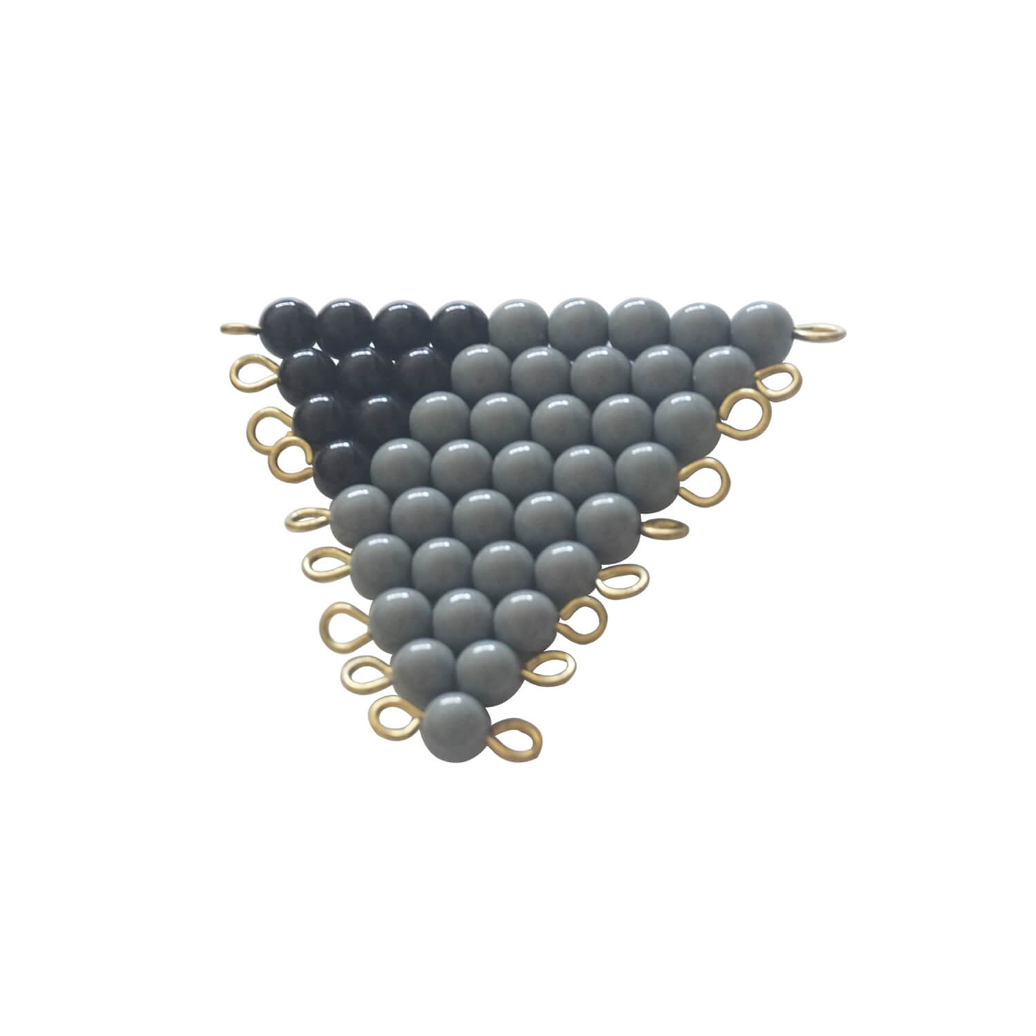 Grey And Black Bead Stairs: 1-9