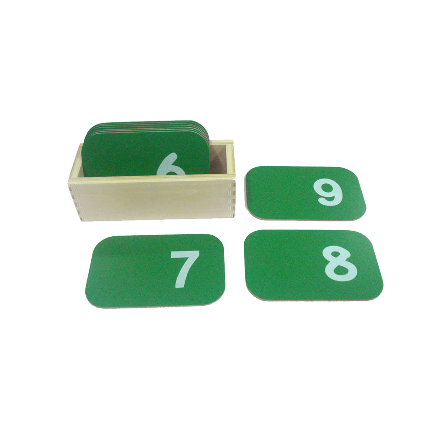 Small Sandpaper Numberals With Box